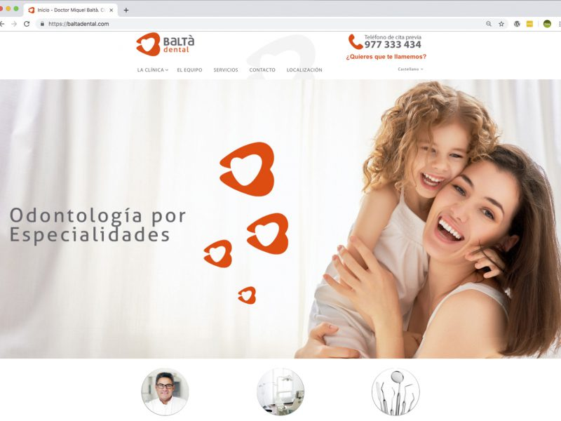 Web clínica Baltà Dental