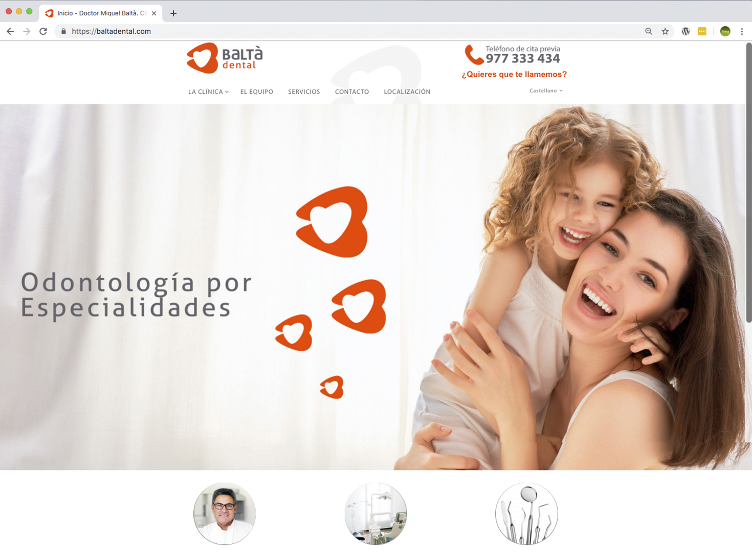 Web clinica dental programacion